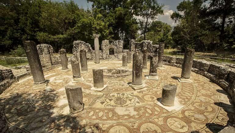 Columnas en Butrinto