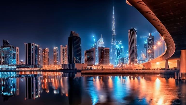 Burj Khalifa por la noche