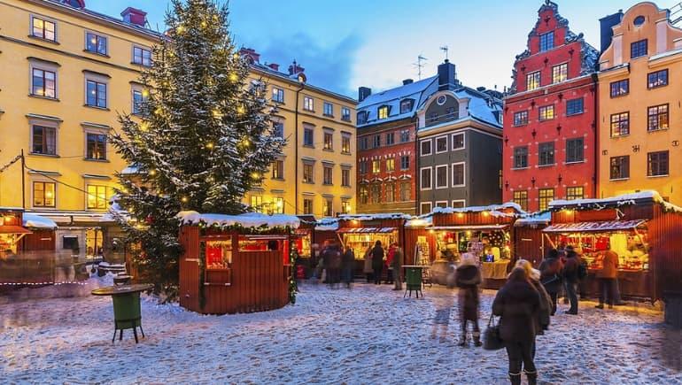 Mercado navideño en Estocolmo