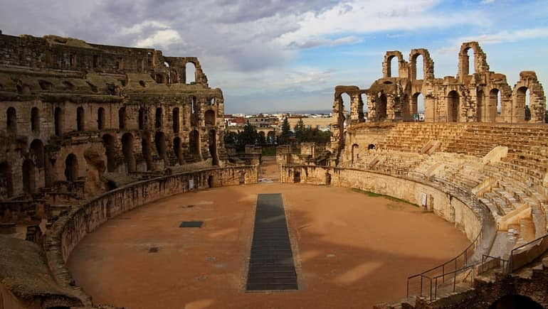 Imagen del anfiteatro de El Djem, en Túnez