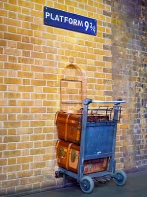 Plataforma 9 y 3/4 en los estudios de Harry Potter