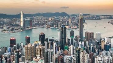 Imagen aérea del barrio de Tsim Sha Tsui, en Hong Kong