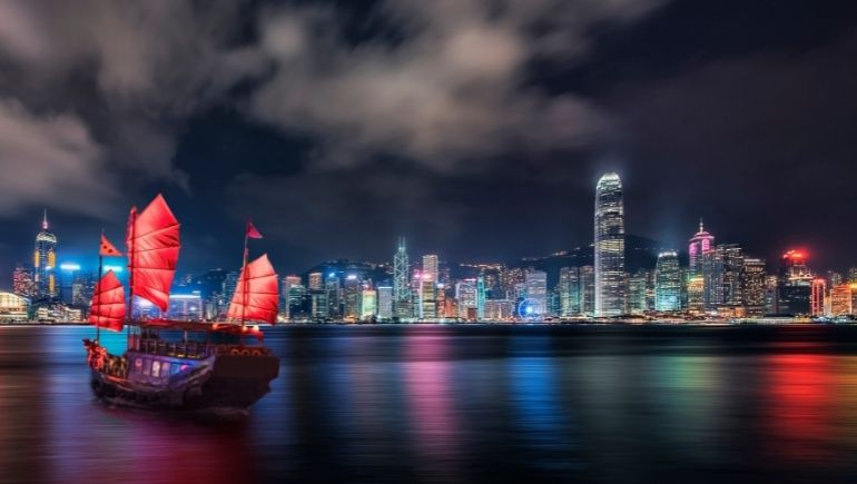 Tsim Sha Tsui de noche
