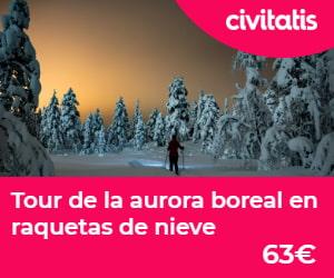 Tour aurora boreal con raquetas de nieve