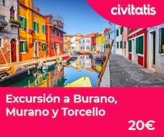 Excursión a Burano, Murano y Torcello