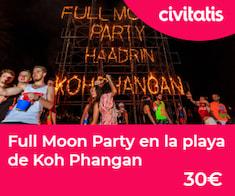 Excursión con traslados a la Full Moon Party