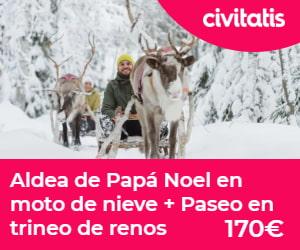 Aldea de Papá Noel en un viaje a Laponia con niños
