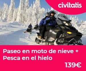 Paseo en moto y pesca en hielo
