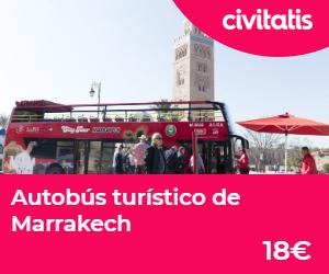 donde alojarse en marrakech  autobus turistico