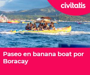 Da un paseo en banana boat