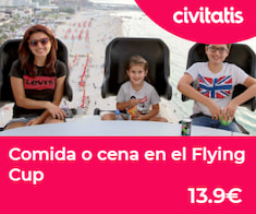 Comida o cena flying cup