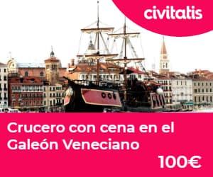 Paseo en góndola por Venecia:  crucero con cena