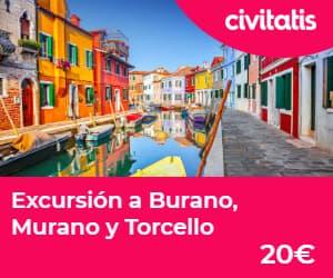 Paseo en góndola por Venecia: excursion desde venecia a Burano, Murano y Torcello