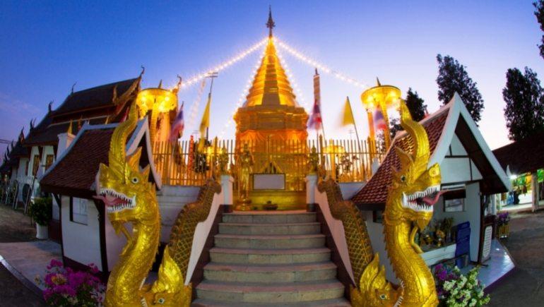 Wat Phra That Doi Kham, uno de los templos de Chiang Mai
