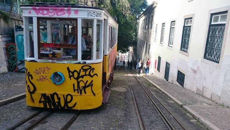 Funicular en Lisboa