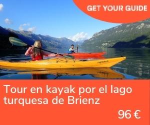 Kayak lago brienz