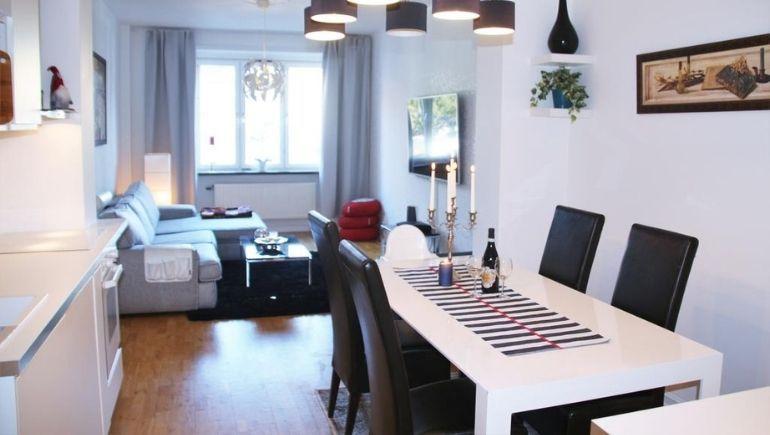 White apartment by Malmö Homes