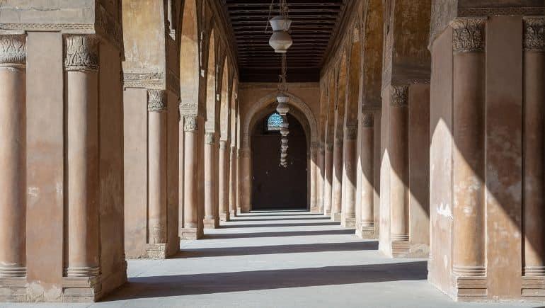Arcadas de la mezquita