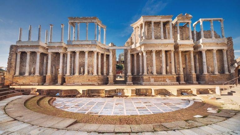 Teatro de Mérida, monumento romano en Extremadura