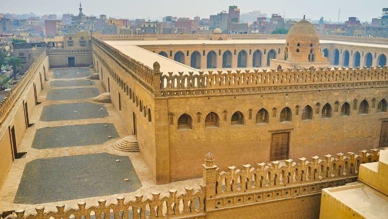 Imagen de la ziyada de la Mezquita de Ibn Tulun