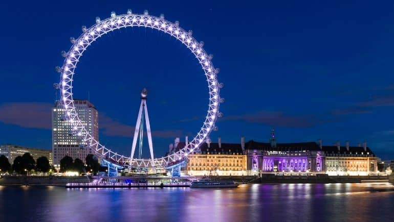El London Eye por la noche