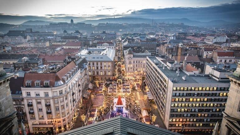 Clima de Budapest en Navidad