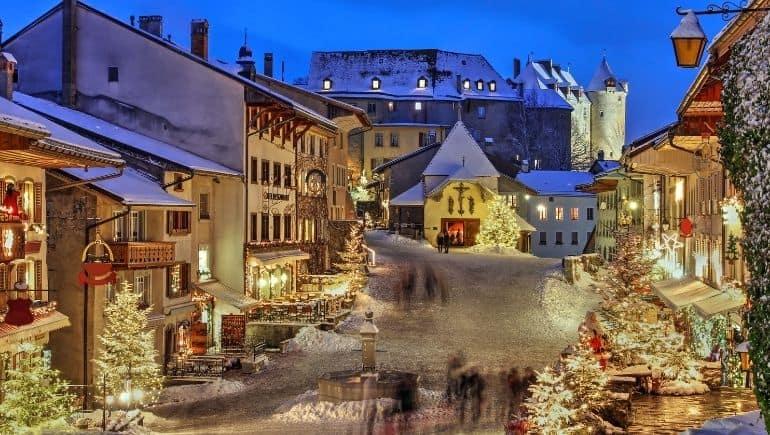 Suiza en Navidad: Gruyéres