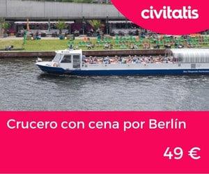 Crucero con cena por Berlín