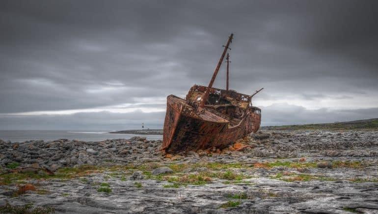 Islas Aran - El naufragio de Plassey