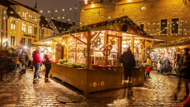 Mercado navideño de Tallín